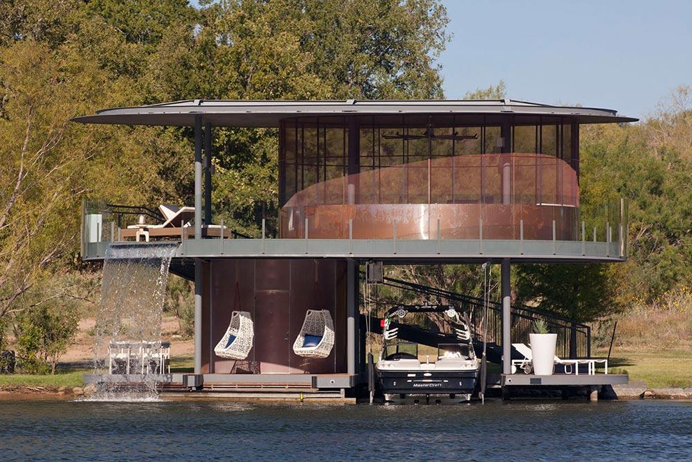 Shore Vista Boat Dock Lake Austin Texas Waterfall - Spring Boat Maintenance Tips for 2018